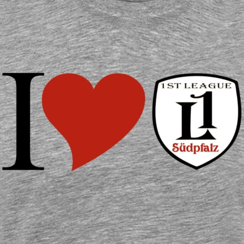 I LOVE 1st League - Männer Premium T-Shirt