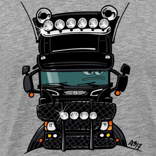 0323 S truck hoog zwart - Mannen Premium T-shirt
