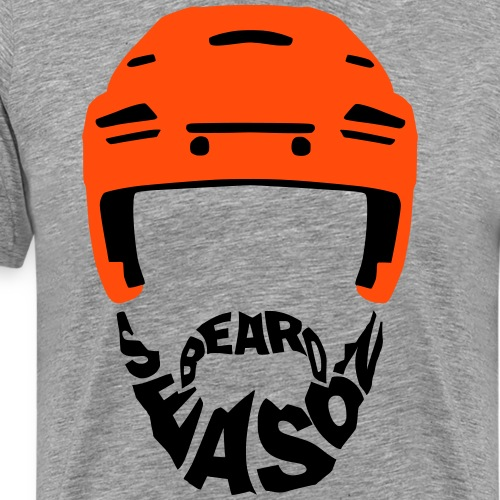Ice Hockey Beard Season - Men's Premium T-Shirt
