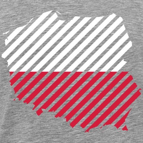 Striped Poland Country - Mannen Premium T-shirt