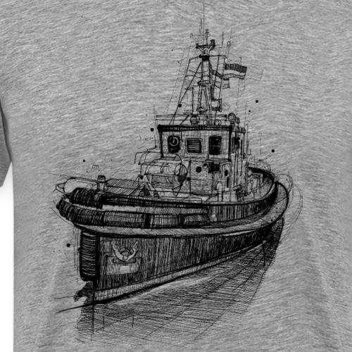 Schlepper Zeichnung - Männer Premium T-Shirt