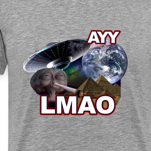 Ayy LMAO Alien - Men's Premium T-Shirt