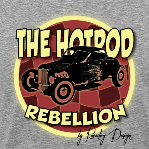hotrod rebellion - Herre premium T-shirt