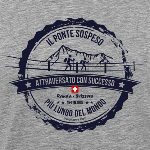Il ponte sospeso più lungo del mondo (IT) - Männer Premium T-Shirt