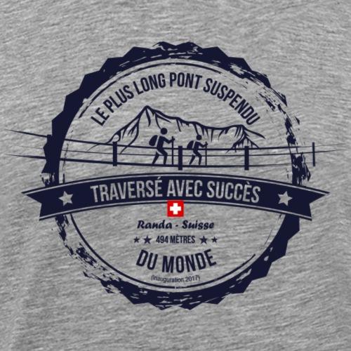 Le plus long pont suspendu du monde (fr) - Männer Premium T-Shirt