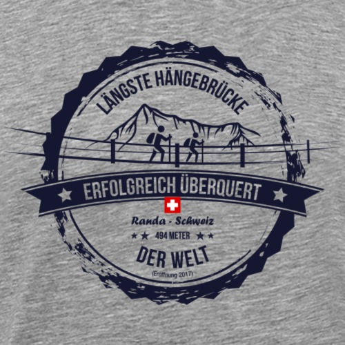 Charles Kuonen Hängebrücke Souvenirs - Männer Premium T-Shirt