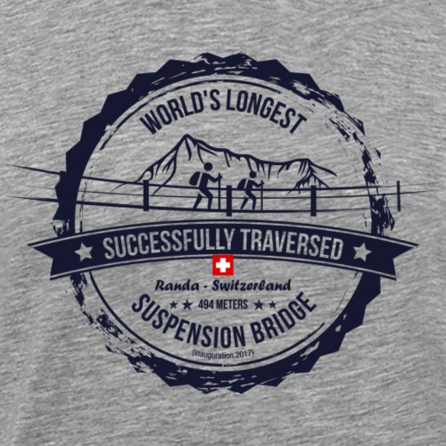Charles Kuonen Suspension Bridge - Männer Premium T-Shirt