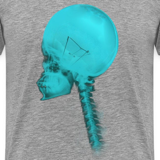 luminous blue skull