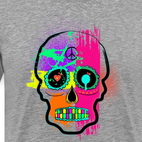 tête de mort graffiti - T-shirt Premium Homme