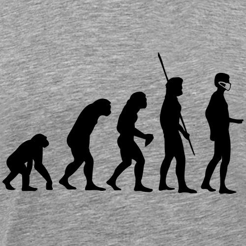 Evolution Mundschutz - Männer Premium T-Shirt
