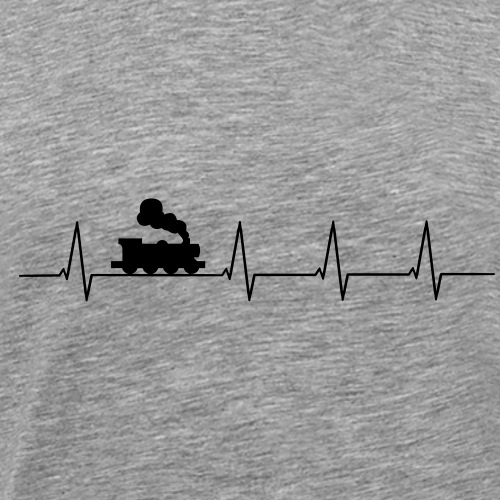 Herzschlag Eisenbahn - Männer Premium T-Shirt