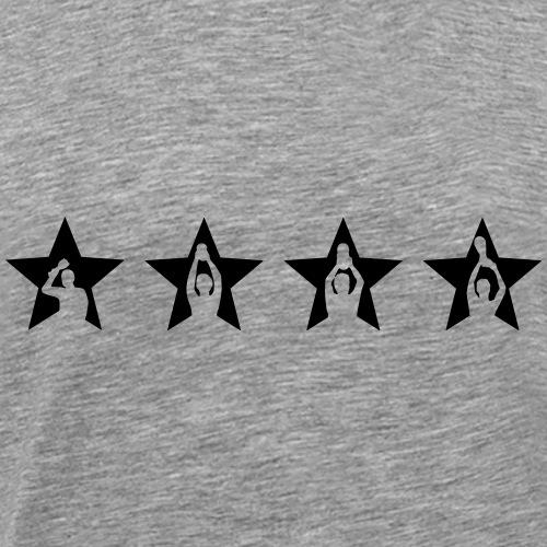 Weltmeistersterne mit Kapitän - Männer Premium T-Shirt