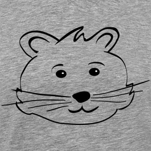 Hamsterkopf - für Hamsterhalter und Hamsterfreunde - Männer Premium T-Shirt