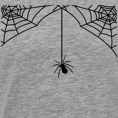 Spinne hängt auf Spinnennetz - Männer Premium T-Shirt