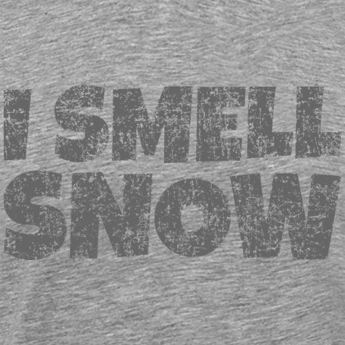 I Smell Snow (Dunkelgrau) Schnee, Wintersport, Ski - Männer Premium T-Shirt