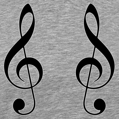 Violinengeweih - Männer Premium T-Shirt