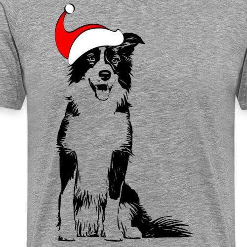 Weihnachten Border Collie Weihnachtsgeschenk Hund - Männer Premium T-Shirt