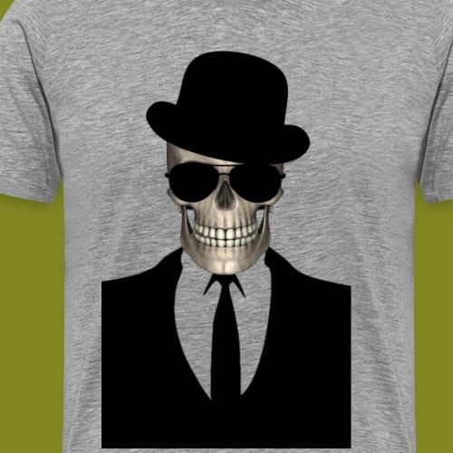Totenkopf Gentleman mit Hut und Sonnenbrille
