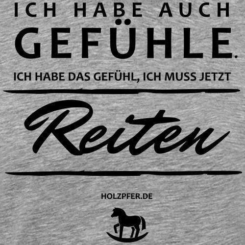Gefühle - Reiten - Männer Premium T-Shirt