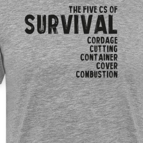 5Cs of Survival List - Premium-T-shirt herr