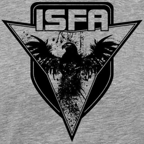 isfa logo 1c schwarz - Männer Premium T-Shirt