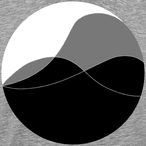 Kreis Berge - Männer Premium T-Shirt