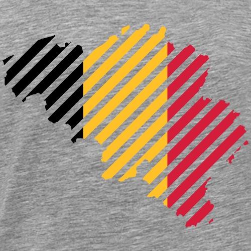 Striped Belgie land - Mannen Premium T-shirt