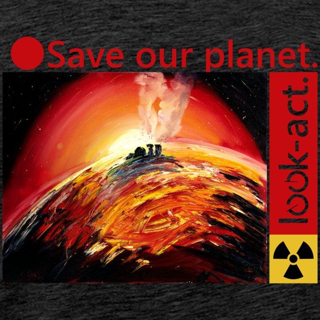 Save our planet. Fukushima Theme