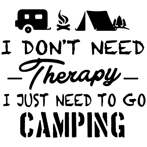 No Therapy Just Camping - Männer Premium T-Shirt