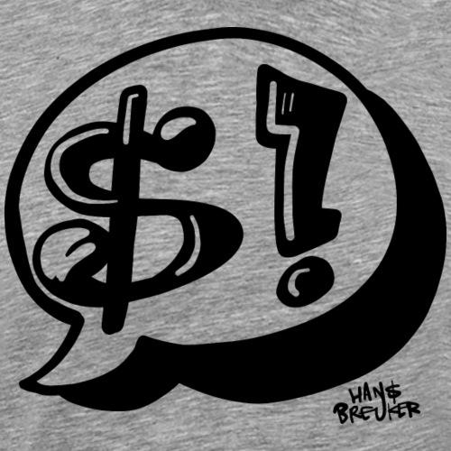 Dollar ballon - Mannen Premium T-shirt