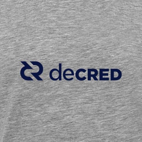 Decred logo horizontal dark - Mannen Premium T-shirt