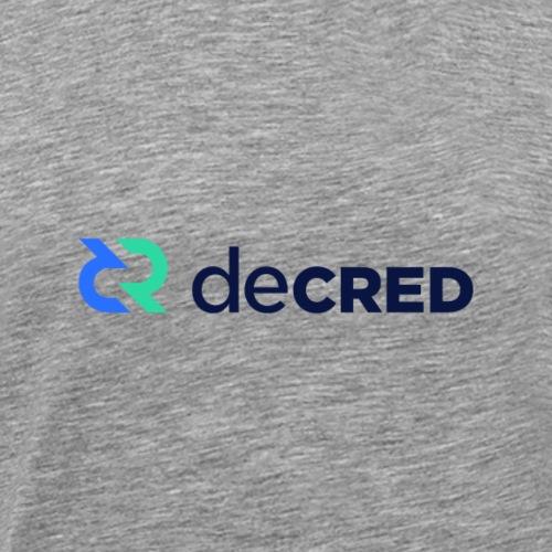 Decred logo horizontal color dark - Mannen Premium T-shirt