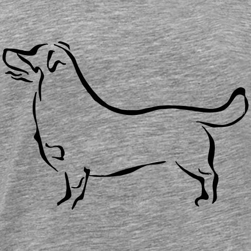Heeler luppa - Miesten premium t-paita