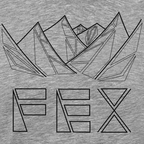 bergfex geometrisch schwarz - Männer Premium T-Shirt