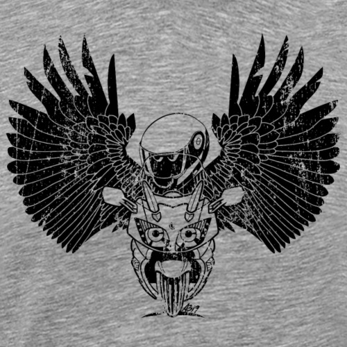 FJR wings MONO black - Mannen Premium T-shirt