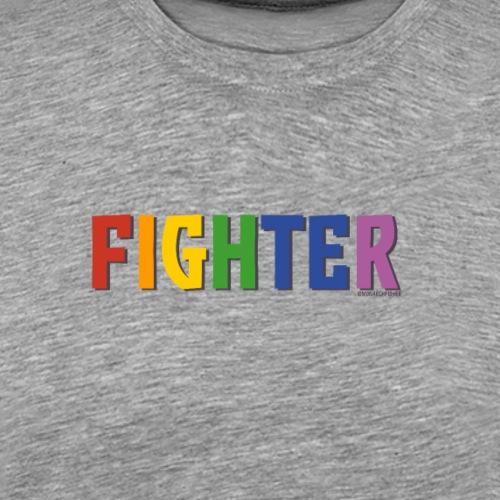 Fighter Pride (Rainbow) - Men's Premium T-Shirt