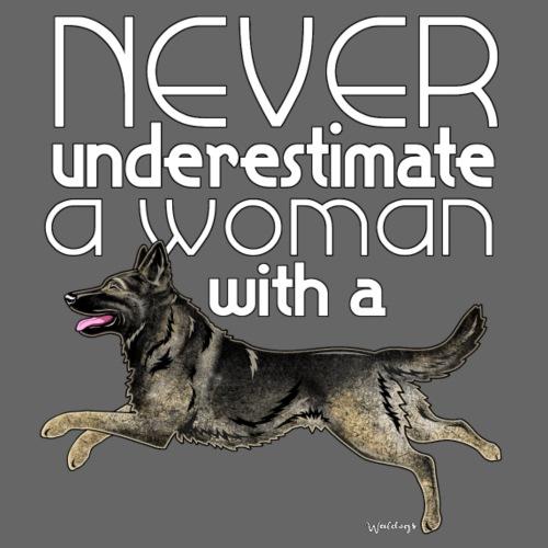 Shepherd GSD Woman - Miesten premium t-paita