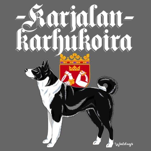 Karjalankarhukoira 01 - Miesten premium t-paita