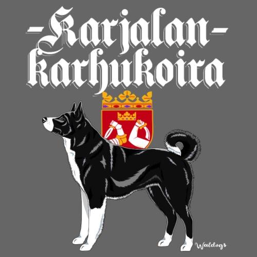 Karjalankarhukoira 02 - Miesten premium t-paita