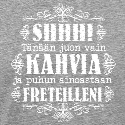 Kahvi Fretti I - Miesten premium t-paita