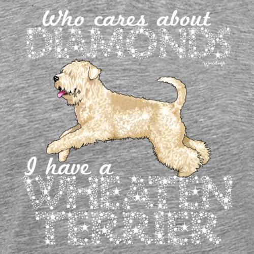 Wheaten Terrier Diamonds 4 - Men's Premium T-Shirt