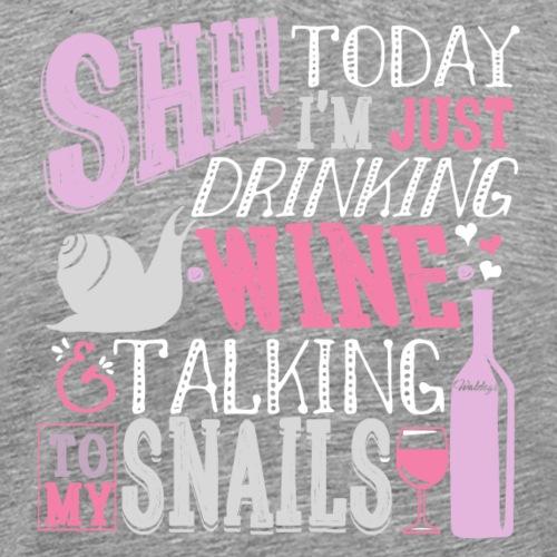SHH Snails Rose - Miesten premium t-paita