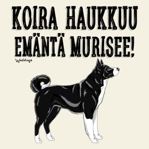Karhukoira Haukkuu M - Miesten premium t-paita