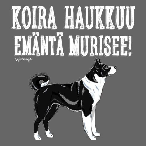 Karhukoira Haukkuu V - Miesten premium t-paita