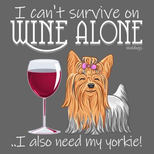 Wine Alone Yorkie II - Miesten premium t-paita