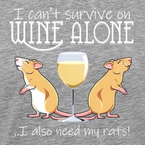 Wine Alone Rats - Miesten premium t-paita