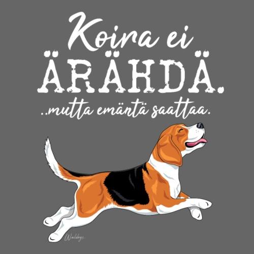 Beagle Ärähdä Emäntä - Miesten premium t-paita