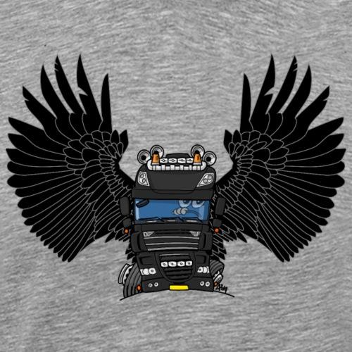 0793 D truck wings zwart - Mannen Premium T-shirt