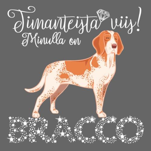 Bracco Timantti II - Miesten premium t-paita