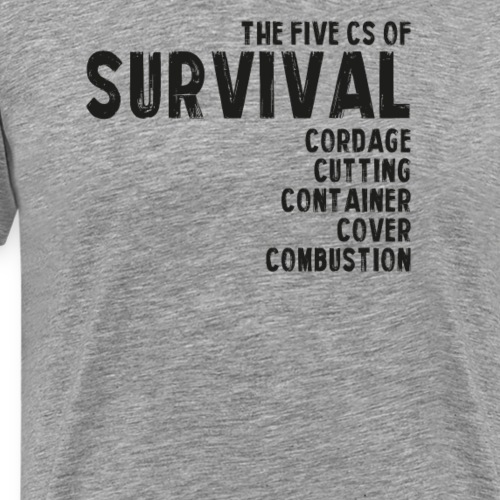 5Cs of Survival List - Premium-T-shirt herr